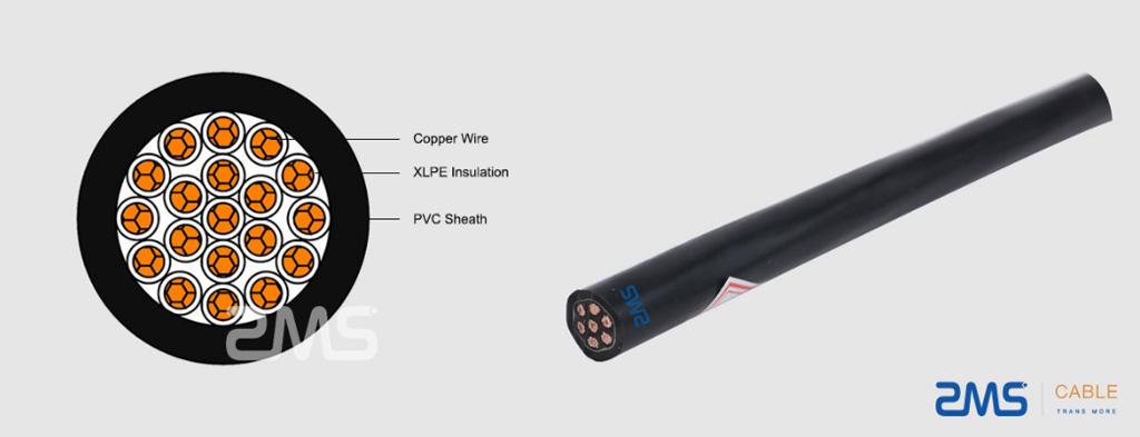 PVC/XLPE Insulation Control Cable